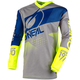 O'Neal Element Maillot de cyclisme Homme, gray/blue/neon yellow